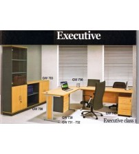 Meja Kantor 1/2 Biro Global GW 730